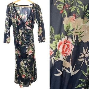 NWT Japanese Weekend Floral Slip Dress Small